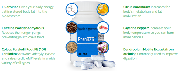 Phen375 ingredienser komplette anmeldelser Phen375 - The Best Fat Burner Of 2016, der virker